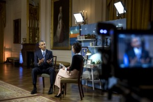 Obama interviewed following his State of the Union Address. (Photo: Pete Souza/White House)