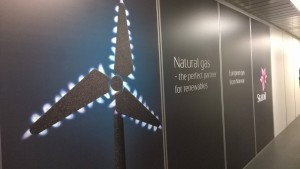 Gas company Statoil's ad-campaign at Brussels airport