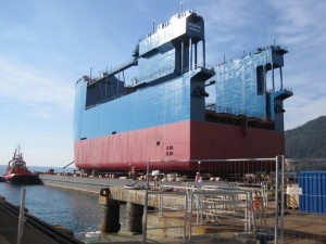 The Itarus floating nuclear waste dock under construction in Italy. (Photo: Korabel.ru)