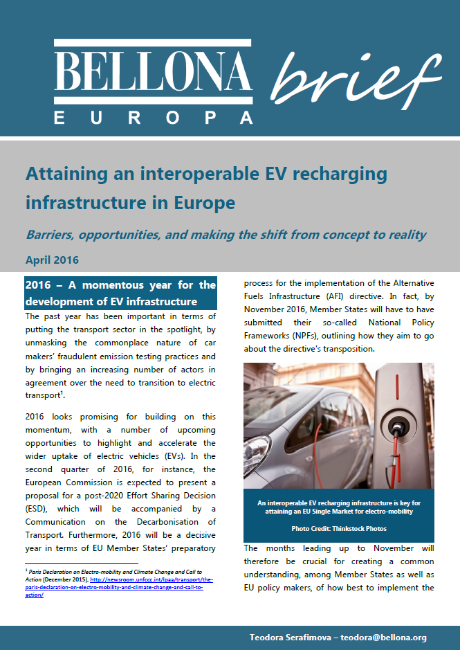 Attaining an interoperable EV recharging infrastructure_front page