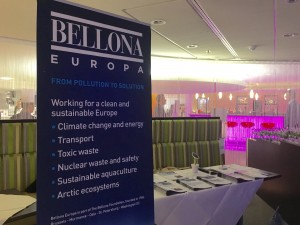 Bellona's stand during the launch event of the Platform for Electro-mobility, Brussels, 21 April 2016