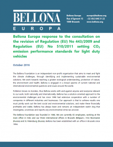 Bellona response to EC consultation CO2 targets for LDVs