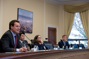 Nils Bøhmer (far left) addresses congressional staff in Washington DC.