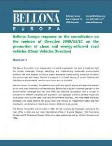 Bellona response to EC CVD