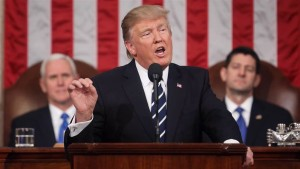 US President Donald Trump addressing Congress on Tuesday. (Photo: Still fro NBC News)