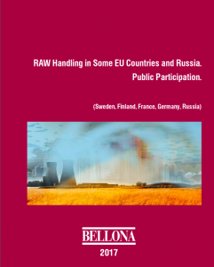 RAW Handling in Some EU Countries and Russia. Public Participation