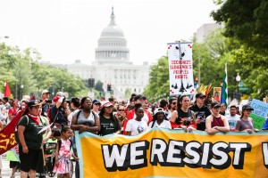 Climate marchers in Washington, DC. (Photo: Flicker/Hector Emanuel, Survival Media)