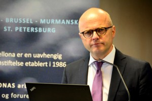 Vidar Helgesen, Norway's minster of climate and the environment, at Bellona's seminar Wednesday.