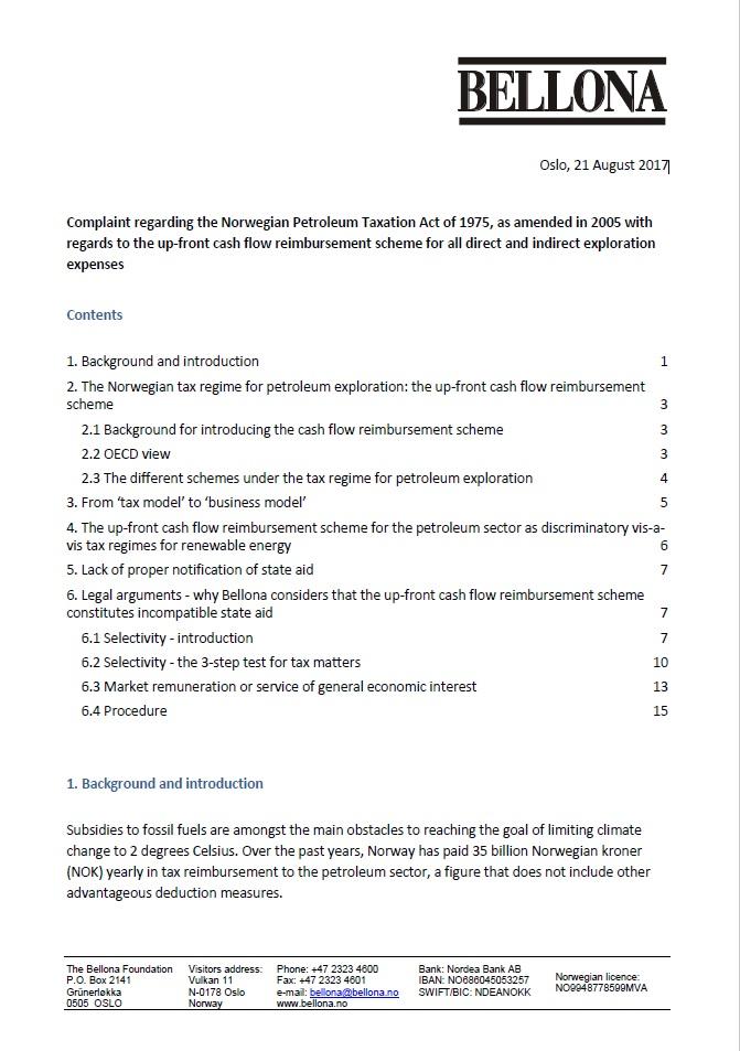 ESA complaint