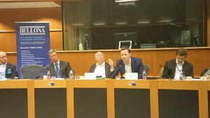 Co-hosts MEP Seb Dance (S&D) and MEP Keith Taylor (Greens), European Parliament, 23 Nov 2017