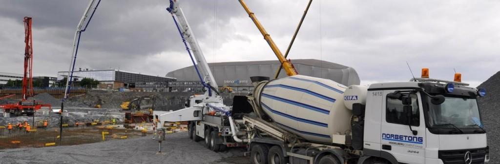 betongbil-betongpumpe