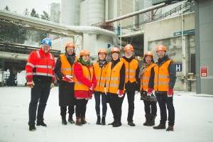 Representatives from Oslo, Gothenburg and Bellona visit waste incineration plant in Klemetsrud, Oslo.