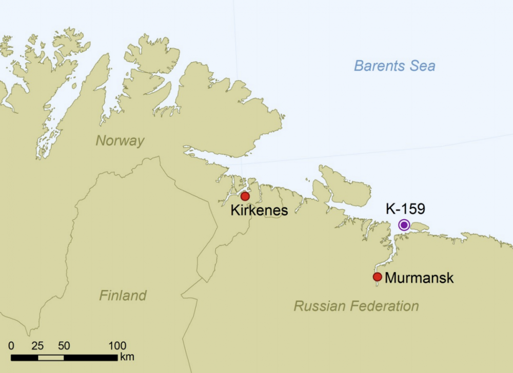 NRPA sub k-159 map