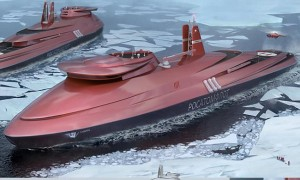 An artists rendition of the Lider Icebreaker. (Photo: Rosatom/Unified Shipbuilding Corporation)