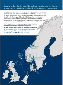 Norway and industrial CCS