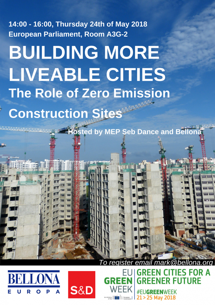 EU Greenweek Zero Emission Construction sites poster