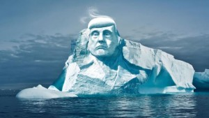 An environmental group wants to raise about $500,000 to carve President Trump's face in ice and prove that climate change exists.