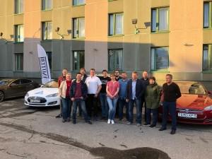 e-car rally participant