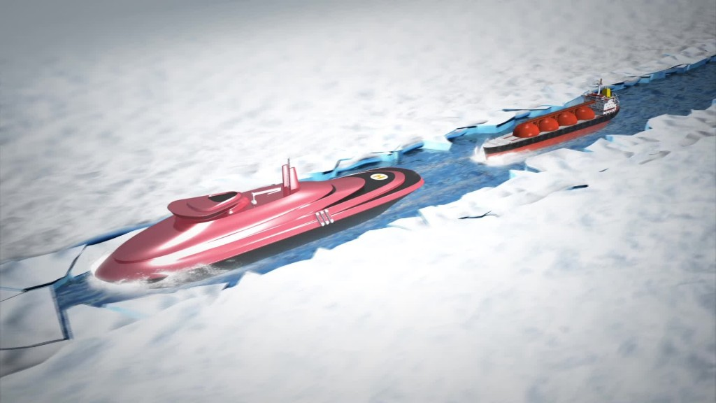 lider icebreaker cutting ice