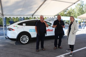 Cristina Ianssen with Oslo Taxi drivers