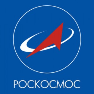 The emblem of Roskosmos, Russia's space agency.