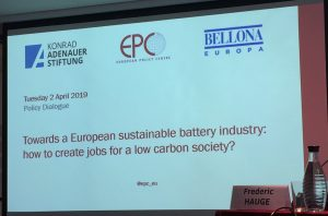 Towards a European sustainable battery industry: how to create jobs for a low carbon society?