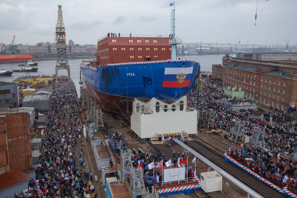 Ural icebreaker launch