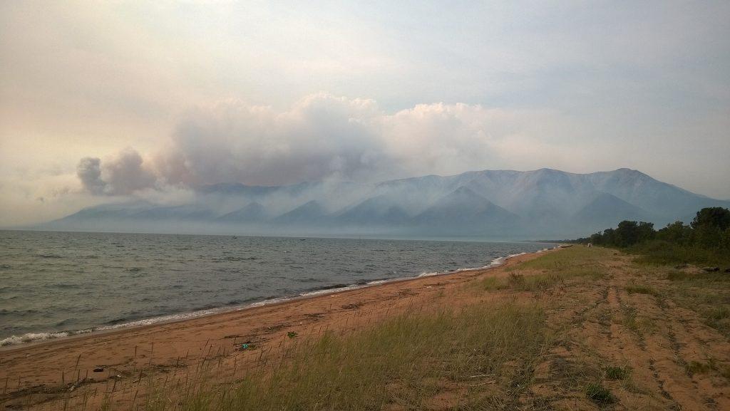 siberia fire lake baikal