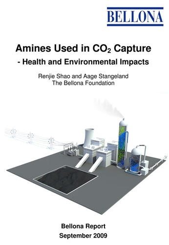 Amines Used in CO2 Capture – Health and Environmental Impacts