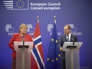 Solberg Tusk EU Norway