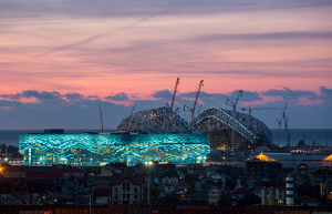 Fisht Stadium, one of the main Olympic venues in Sochi. (Photo: IOC)