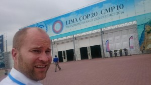 Jonas Helseth at the end of the first week of haggling at UN climate negotiation in Lima, Peru. (Photo: Jonas Helseth).