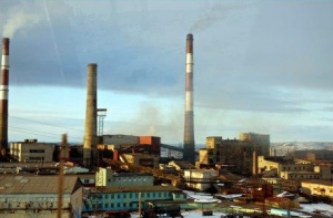 The nickel smelting plant at Norlisk. Courtesy of Thomas Nilsen/The Barents Observer