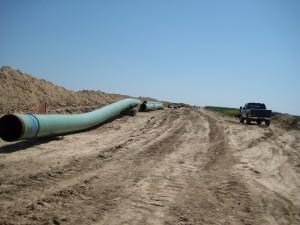 Keystone 30-inch pipeline near Swanton, Nebraska in 2009. (Photo: Wikimedia)