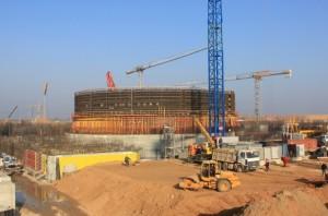 На сооружении белорусской АЭС началось бетонирование внутренней защитной оболочки здания реактора энергоблока №1.