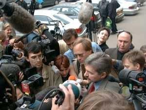 Nikitin after Supereme Court Presidium with press
