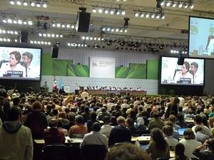 Plenumssalen på klimatoppmøtet i Cancun