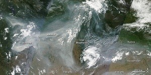 Fire and Smoke in Western Russia