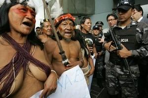 Equador Indians Protest (Ingress image)
