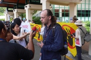 Anti-nuclear protest in Bali (Ingress image)