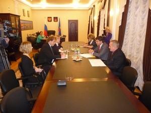 Встреча Президента Беллоны с председателем Мурманской областной Думы
