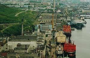 Atomflot-basen i Murmansk (Ingress image)