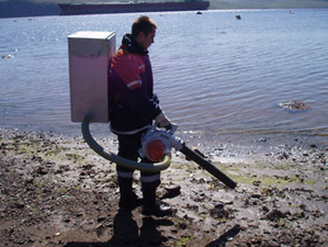 Oil cleaning exercise, Murmansk, Russia
