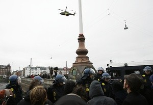 cop15 helicopter police protests (Ingress image)
