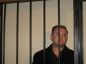 Максим Резник на судебном заседании в Дзержинском суде Санкт-Петербурга. 4 марта 2008 года (Ingress image)