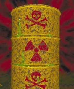 Radioactive waste drum (Ingress image)