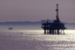 Oil Rig Drilling Drill Sea