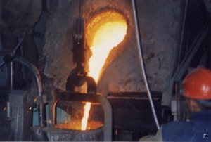 Плавка радиоактивного металла.