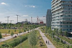 Строящийся «зеленый» квартал Клиши-Батиньоль в Париже.
