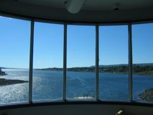 Вид из окна приливной электростанции.
